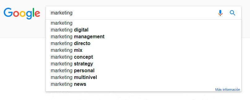 autocompletado-google encontrar palabras clave